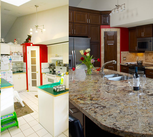 Renovation Before and After