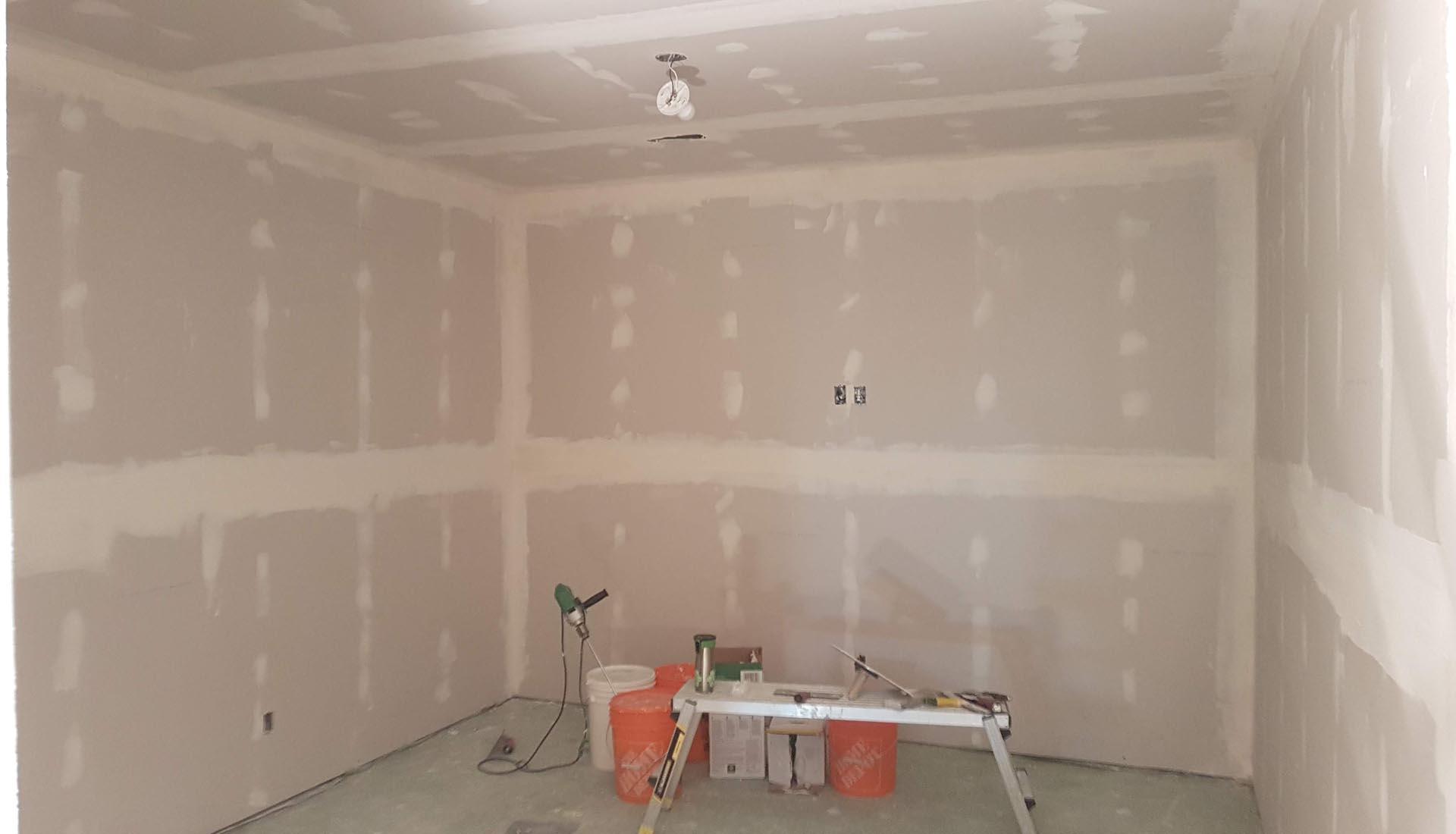 Drywall Hanging Mudding Sanding Renewvation Calgary Renovations Handyman